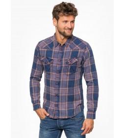 "Wrangler ""LS Western Shirt"" Purple Pennant"