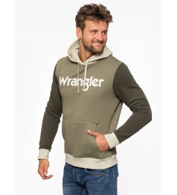 "Wrangler ""Colourblock Hoodie"" Dusty Olive"