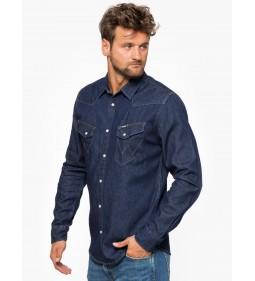"Wrangler ""Western Denim Shirt"" Dry Indigo"