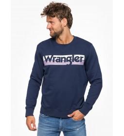 "Wrangler ""Logo Crew"" Real Navy"