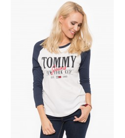 "Tommy Jeans ""Raglan Logo Long"" White"