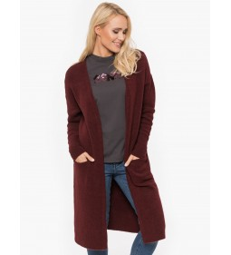 "Mustang ""Long Cardigan"" Burgundy"