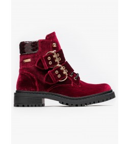 "Pepe Jeans ""Collie Velour"" Burgundy"