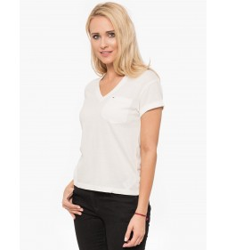 "Toomy Jeans ""Solid V-Neck Tee"" Cloud Dancer"
