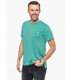 """Tommy Jeans """"S/S TJM Fine Stripe Tee"""" Green Blue"""