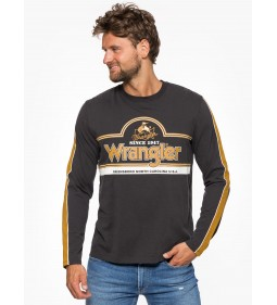 "Wrangler ""LS Seasonal Logo Tee"" Faded Black"