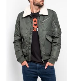 """Lee """"Flight Zip Jacket"""" Grey Green"""