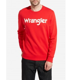 "Wrangler ""Multi Logo Sweat"" High Risk Red"