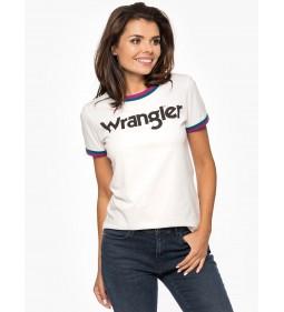 """Wrangler """"Ringer Tee"""" Cream OffWhite"""