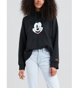 "Levi's ""Graphic Oversized Hoodie"" Mickey Hoodie Caviar Black Mid Season Sale"