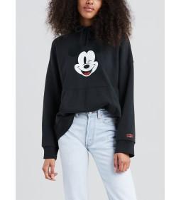 "Levi's ""Graphic Oversized Hoodie"" Mickey Hoodie Caviar Black"