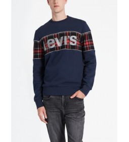 "Levi's ""Reflective Cb Crew"" Logo+Piping Blues"