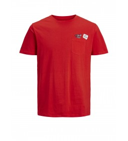 "Jack & Jones ""Jorlegendpkt Tee""  Fiery Red"