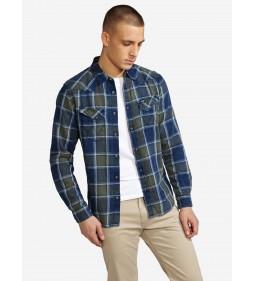 """Wrangler """"LS Western Shirt"""" Duffelbag Green"""