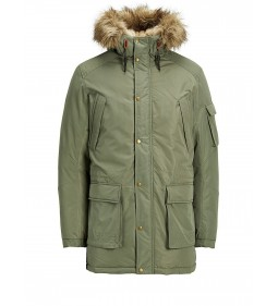 "Jack & Jones ""Jorlatte Parka Jacket"" Dusty Olive"
