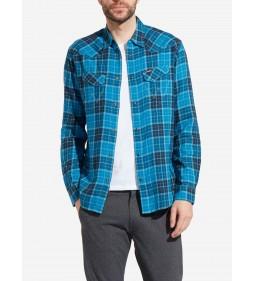 """Wrangler """"LS Western Shirt"""" Deep Water"""