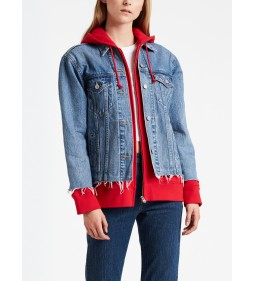 "Levi's ""Ex-Bf Hyb Hooded Trucker"" Piggy Back Red"