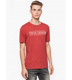 "Mustang ""Printed T-Shirt"" Red"