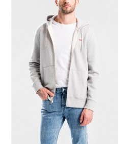 "Levi's ""Original Hm Zipup Hoodie"" Medium Grey Heather"