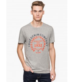 "Mustang ""Printed T-shirt"" Grey"