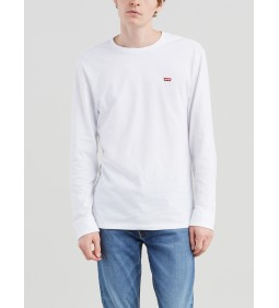 "Levi's ""Ls Original Hm Tee"" Ls Cotton + Patch White"