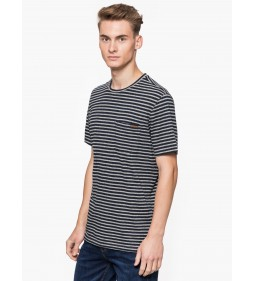 "Mustang ""Striped T-Shirt"" Grey Plus"