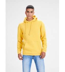 "Jack & Jones ""Jortopipop Sweat Hood"" Yolk Yellow"