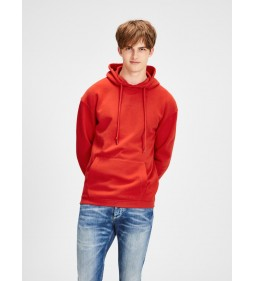 "Jack & Jones ""Jortopipop Sweat Hood"" Fiery Red"