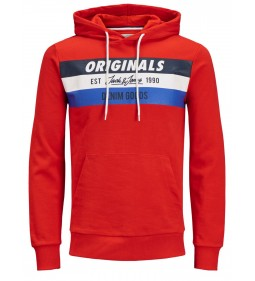 "Jack & Jones ""Jorshakedowns Sweat Hood"" Red"