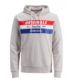 "Jack & Jones ""Jorshakedowns Sweat Hood""  White Melange"