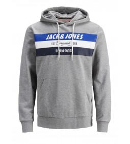 "Jack & Jones ""Jorshakedowns Sweat Hood"" Light Grey Melange"