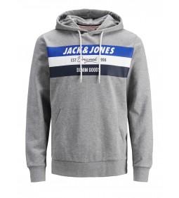 "Jack & Jones ""Jorshakedowns Sweat Hood"" Light Grey Melange"