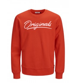 "Jack & Jones ""Jorart Empire Sweat Crew"" Fiery Red"