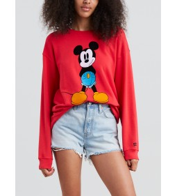 "Levi's ""Graphic drop Shoulder Cr"" Mickey Chinese Red"