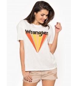 """Wrangler """"Boyfriend Tee"""" Off White"""