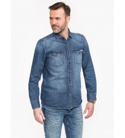 "Mustang ""Classic Denim Shirt"" Blue"
