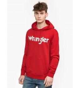 "Wrangler ""Logo Hoodie Scarlet"" Red"