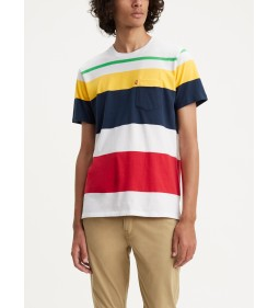"Levi's ""Set-In Sunset Pocket"" Quack Stripe White/ HabaneroGold Procent"