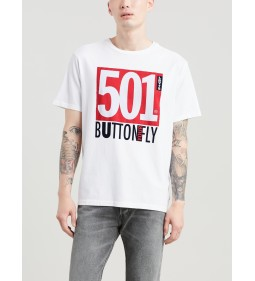 "Levi's ""Oversized Graphic Tee"" Ssnl Archival White"