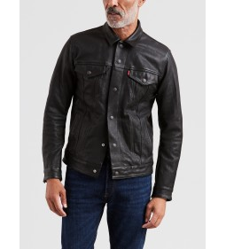 "Levi's ""Leather trucker Type 3"" Black"