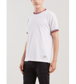 "Levi's ""Migty Made Textured Tee"" Tipping White W/ Dress Blues"
