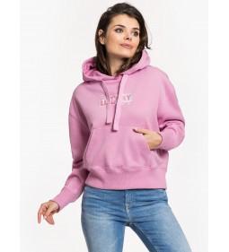 """Tommy Jeans """"Clean Logo Hoddi"""" Lilac Chiffon"""