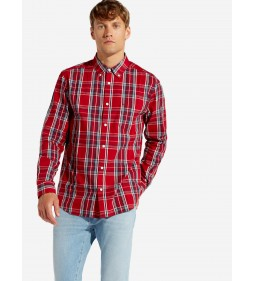 "Wrangler ""Ls Pkt Button Down"" Scarlet Red"