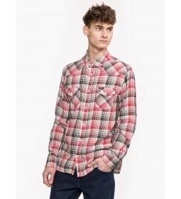 "Wrangler ""Ls Western Shirt"" Scarlet Red"