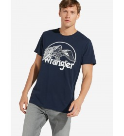 "Wrangler ""Graphic Tee"" Navy"