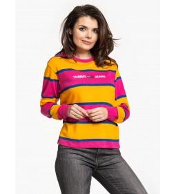 """Tommy Jeans """"Stripe Corp Logo Longsleeve"""" Purple"""