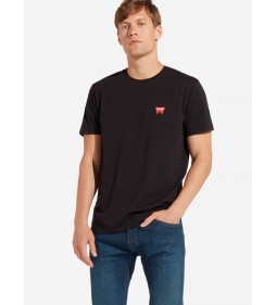 "Wrangler ""Sign Off Tee"" Black Plus"