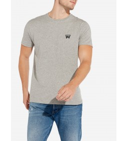 "Wrangler ""Sign Off Tee"" Mid Grey Mel Plus"