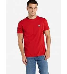 "Wrangler ""Sign Off Tee"" Scarlet Red Plus"