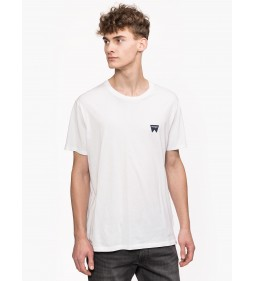"Wrangler ""Sign Off Tee"" White Plus"